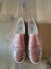 Ladies Genuine UGGS Leather Flat Shoes Size Uk 7.5 ( Eu 40)