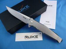 Couteau RUIKE P108 BetaPlus Lame Acier 14C28N Manche Acier RKEP108SF