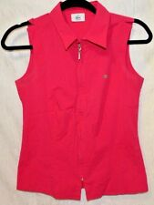 LACOSTE Shirt Women sexy Polo Performance Sleeveless Shirt Size 36 in Pink