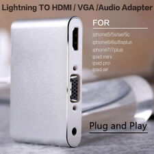 Lightning to HDMI TV / VGA Projector/Audio Adapter for iPhone 6 6s 7 Plus iPad