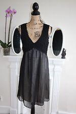 BNWT GUESS de Marciano 12 14 Superbe Noir Mousseline Babydoll robe RRP213 -75%