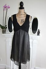 BNWT GUESS by Marciano 12 14 stunning black chiffon babydoll dress RRP213 -75%
