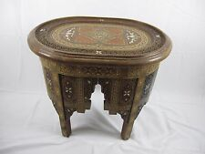 Vintage Syrian hand Inlaid cocktail Coffee table mosaic & icraved & pearl