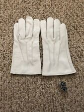 Men's Dress fashion White leather Gloves  Size Medium