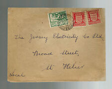 1944 Jersey Channel Islands Occupation Cover England Local Use Electric Company
