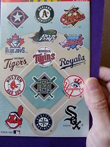 Vintage American Greetings Baseball Team MLB Stickers 1 Sheet 1997
