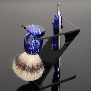 Shaving Brush Z Stand Brush Holder Stainless Steel Folding Straight Razor Barber