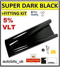 PRO SCRATCH RESISTANT CAR WINDOW TINT FILM SUPER DARK BLACK LIMO 5% 76cm x6M