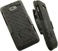 BLACK KICKSTAND CASE + BELT CLIP HOLSTER STAND FOR MOTOROLA DROID RAZR-M XT907