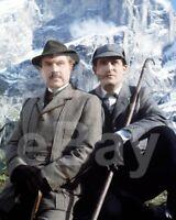 The Adventures of Sherlock Holmes (TV) Jeremy Brett, David Burke 10x8 Photo