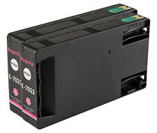 2 Magenta T7023 non-OEM Ink Cartridge For Epson Pro WP-4545DTWF WP-4595DNF