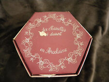 LIERRE SAUVAGE FRANCE Set of 5 Cheese Plates in Original Box/EXCELLENT CONDITION