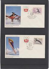 1964 AUSTRIA WINTER OLYMPICS SET OF 7 UNADDRESSED FIRST DAY COVERS  LQQK!