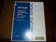 NEW HOLLAND INTELLISTEER AUTO STEERING SYSTEM OPERATORS MANUAL INTELLIVIEW PLUS