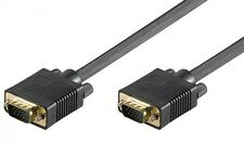 full hd s-vga svga sub-d 15 pin kabel monitorkabel schwarz vergoldet 0,8m (80cm)