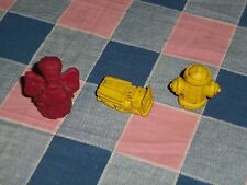 "Diener Rubber Toys Pencil Toppers Fire Truck Fire Hydrant Angel is 1 7/16"" High"