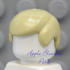 NEW Lego Minifig Boy Short TAN HAIR - City Business Male Luke Minifigure Cap wig