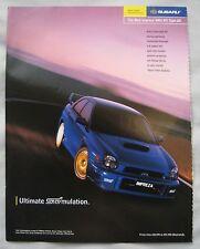 Subaru Impreza WRX STi Type UK Original advert