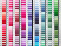 30 x 18 inch lengths of DMC stranded cross stitch embroidery cotton, 378 colours