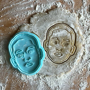 Jaden Smith cookie cutter. Smith face cookie stamp. Hip-hop cookies