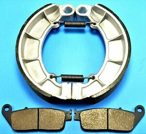 Front & Rear Brake Shoes and Pads HONDA Shadow Ace 750 Deluxe VT750C (1998-03)
