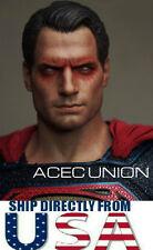 1/6 Superman Henry Cavill Head Sculpt 2 Vein Red Eye Clark Kent - U.S.A. SELLER
