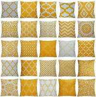 "21x21"" Orange Yellow  Pillow Case Sofa Car Waist Throw Cushion Cover Home Decor"
