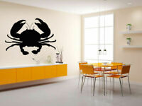 Wall Vinyl Sticker Room Decal Mural Decor Crab Lobster Sea Food Fish bo2335