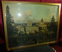 Vintage Old WARSAW Castle Wilanow by BERNARDO BELLOTTO Framed Art Print Warszawa