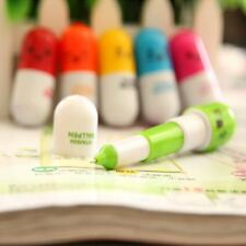 Ballpoint Pen Stationery Gift Cartoon Face Capsule Pill Cute Vitamin Ballpen 1PC