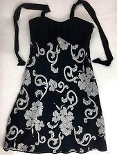 White House Black Market Womens 2 Silk Halter Dress Knee-Length Floral Tropical