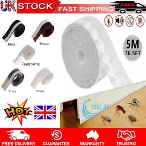 UK~ 5M Weather Seal Window Silicone Sealing Strip Door Stripping Self Adhesive a