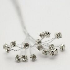 Diamante crystal Wires Clear Floristry bridal craft silver metal brilliant bling
