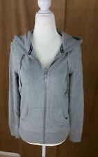 VICTORIA'S SECRET Super Model Essentials Gray Sequin Zip Up Hoodie Jacket Size M