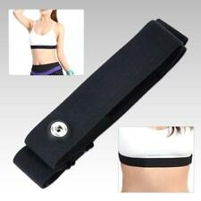 Black Chest Belt Strap Band for Garmin Wahoo Polar Sport Heart Rate Monitor MT