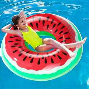 Watermelon Pool Float Inflatable Circle Swimming Ring Kids Adult Floating Seat
