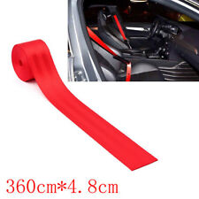 Red 4.8cm Auto Racing Car Harness 3 Point Front Safety Retractable Seat Belt HOT