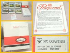 6 Pimpernel Coasters Square Placemat Castles Of Scotland NEW