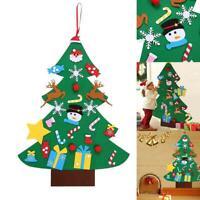 DIY Felt Christmas Tree Wall Decorations Hanging Door Children Gifts For Home Ok