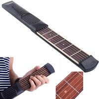 Bolsillo De Guitarra portátil 6 cuerdas 4 Fret principiantes bolsa de transporte