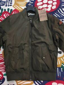 Schott bomber jacket khaki size medium primavera autunno