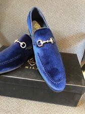 NEW La Milano Navy Blue Loafer Men's Dress Velvet Shoes Size 10