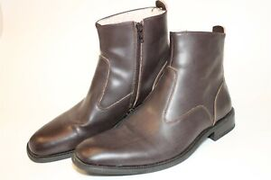 Giorgio Brutini Mens Size 11 M Leather Zip Dress Ankle Boots 66014