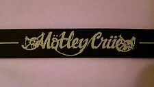 """MÖTLEY CRÜE 8 1/4"""" Wristband with 2 Size (Lg/Sm) Metal Snaps, Glow In The Dark"""