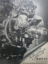 6/1945 PUB ROTAX ELECTRICAL EQUIPMENT BRISTOL HERCULES ENGINE ORIGINAL AD