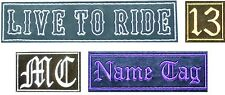 Custom Personalised Embroidered Patches Sew/Iron On Badge Hat Jeans Club Biker