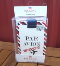 """PAR AVION & Bon Voyage French luggage tags NWT set of three """"Handle with Care"""""""