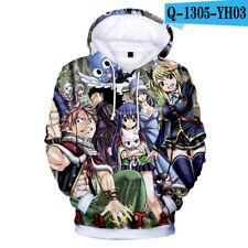 Anime Fairy Tail Unisex Hoodies Long Sleeve Sweater Sweatshirts Coat XS-4XL