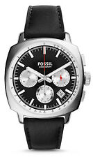 Fossil CH2984 Men's Haywood Classic Leather Band Black Dial Chronograph Watch