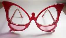 Anglo American Red Butterfly Glasses Hand Made in England
